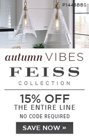 Autumn Vibes | Feiss Collection | 15% Off the Entire Line | No Code Required | Save Now