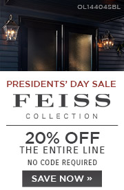 Presidents' Day Sale | Feiss Collection | 20% Off the Entire Line | No Code Required | Save Now