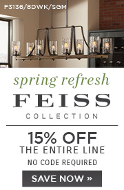 Spring Refresh | Feiss Collection | 15% Off the Entire Line | No Code Required | Save Now