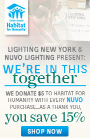 Nuvo Lighting | Habitat for Humanity | 15% Off Entire Line