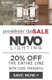 Presidents' Day Sale | Nuvo Lighting | 20% Off the Entire Line With Code: PRESDAY21 | Save Now