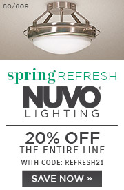 Spring Refresh | Nuvo Lighting | 20% Off the Entire Line | With Code: REFRESH21 | Save Now
