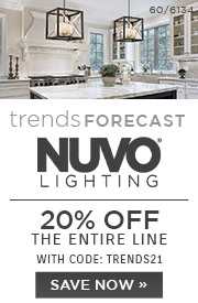 Trends Forecast | Nuvo Lighting | 20% Off the Entire Line | With Code: TRENDS21 | Save Now