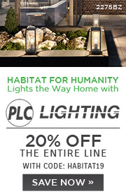 Habitat for Humanity Lights the Way Home with PLC Lighting | 20% Off The Entire Line | with code: HABITAT19 | Save Now