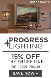Progress Lighting | 15% OFF The Entire Line | with code: PRG119 |Save Now