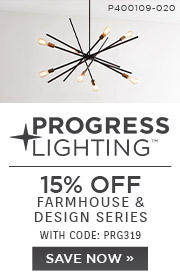 Progress Lighting | 15% OFF Farmhouse & Design Series | with code: PRG319 | Save Now