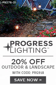 Progress Lighting | 20% OFF Outdoor & Landscape | with code: PRG918
