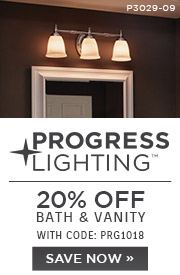 Progress Lighting | 20% OFF Bath & Vanity | with code: PRG1018