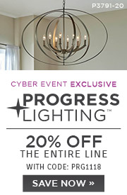 Progress Lighting | 20% OFF The Entire Line | with code: PRG1118