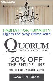 Habitat for Humanity | Quorum | 20% Off the Entire Line | With Code: HABITAT20 | Save Now