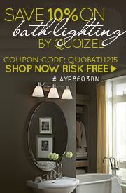 Save 10% on BATH LIGHTING by Quoizel!