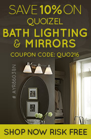 Quoizel | 10% Off Bath Lighting and Mirrors