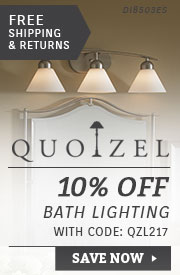 Quoizel | 10% Off Bath Lighting