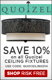 10% OFF QUOIZEL CEILING FIXTURES!