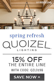 Spring Refresh | Quoizel | 15% OFF The Entire Line | with code: QZL319B | Save Now