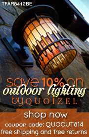 Save 10% on OUTDOOR LIGHTING by Quoizel!