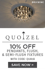Quoizel | 10% OFF Pendants, Flush, & Semi-Flush Fixtures | With Code: QU818