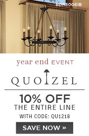 Quoizel | 10% OFF The Entire Line | with code: QU1218 | Save Now
