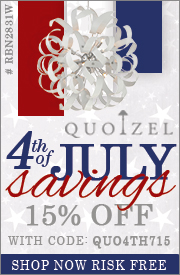 QUOIZEL 4th of July Savings. 15% off the ENTIRE LINE!