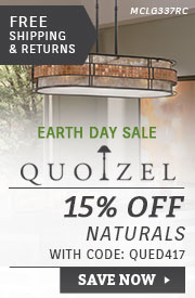 Quoizel | Earth Day Sale | 15% Off Naturals