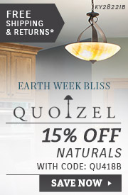 Quoizel | Earth Week Bliss | 15% OFF Naturals