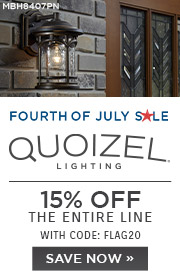 Fourth of July Sale | Quoizel Lighting | 15% Off Exterior Lighting | With Code: FLAG20 | Shop Now