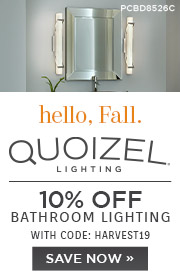Hello Fall | Quoizel Lighting | 10% Off Bathroom Lighting | With Code: HARVEST19 | Save Now