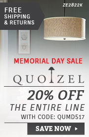 Quoizel Lighting | Memorial Day Sale | 15% Off the Entire Line