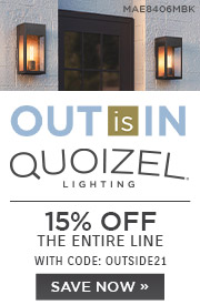 Out is In | Quoizel Lighting | 15% Off the Entire Line | With Code: OUTSIDE21 | Save Now