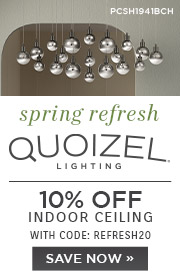 Spring Refresh | Quoizel Lighting | 10% Off Indoor Ceiling | With Code: REFRESH20 | Shop Now (COPY)