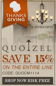 Save 15% on QUOIZEL LIGHTING!