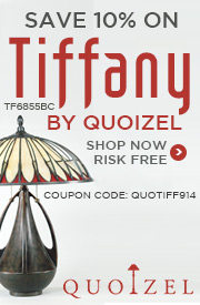 Save 10% on TIFFANY by QUOIZEL!