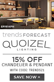 Trends Forecast | Quoizel Lighting | 15% Off Chandelier & Pendant | With Code: TRENDS21 | Save Now