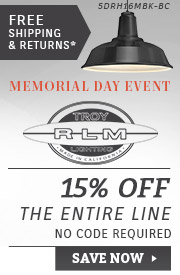 Troy RLM Lighting | Memorial Day Event | 15% OFF The Entire Line