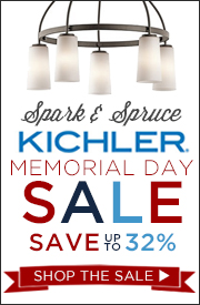 Kichler Memorial Day Sale on Spark & Spruce. Save up to 32% on Summer Lighting!