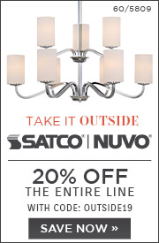 Take It Outside | Satco | Nuvo | 20% Off The Entire Line | With Code: OUTSIDE19 | Save Now