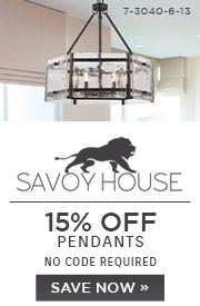 Savoy House | 15% OFF Pendants | no code required | Save Now