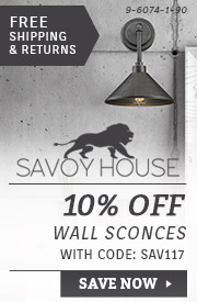 Savoy House | 10% Off Wall Sconces