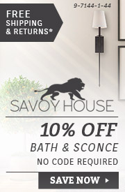 Savoy House | 10% OFF Bath & Sconce Lighting
