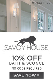 Savoy House | 10% OFF Bath & Sconce | no code required | Save Now