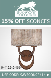15% OFF SAVOY HOUSE Sconces!
