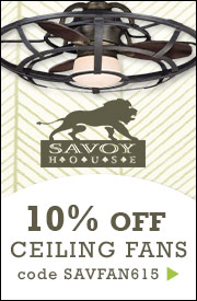 Take an Additional 10% off Savoy House Ceiling Fans!