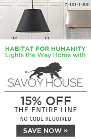 Habitat for Humanity Lights the Way Home with Savoy House | 15% Off The Entire Line | No Code Required
