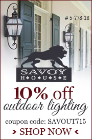 10% off SAVOY HOUSE Outdoor Lighting!