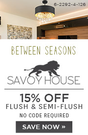 Savoy House | 15% Off Flush & Semi-Flush | No Code Required | Save Now