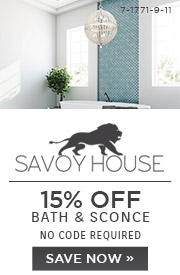 Savoy House | 15% OFF Bath & Sconce | no code required