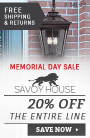 Savoy House Lighting | Memorial Day Sale | 20% Off the Entire Line