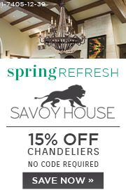 Spring Refresh | Savoy House | 15% Off Chandeliers | No Code Required | Save Now