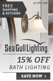 Sea Gull Lighting | 15% Off Bath Lighting