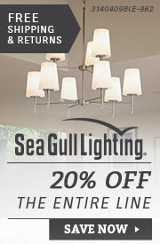 Sea Gull Lighting | 20% Off the Entire Line